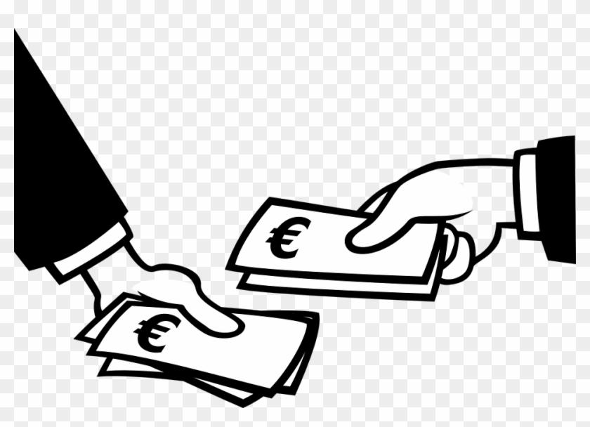 Euro Hände Geld Zahlen - Pay Black And White #62657