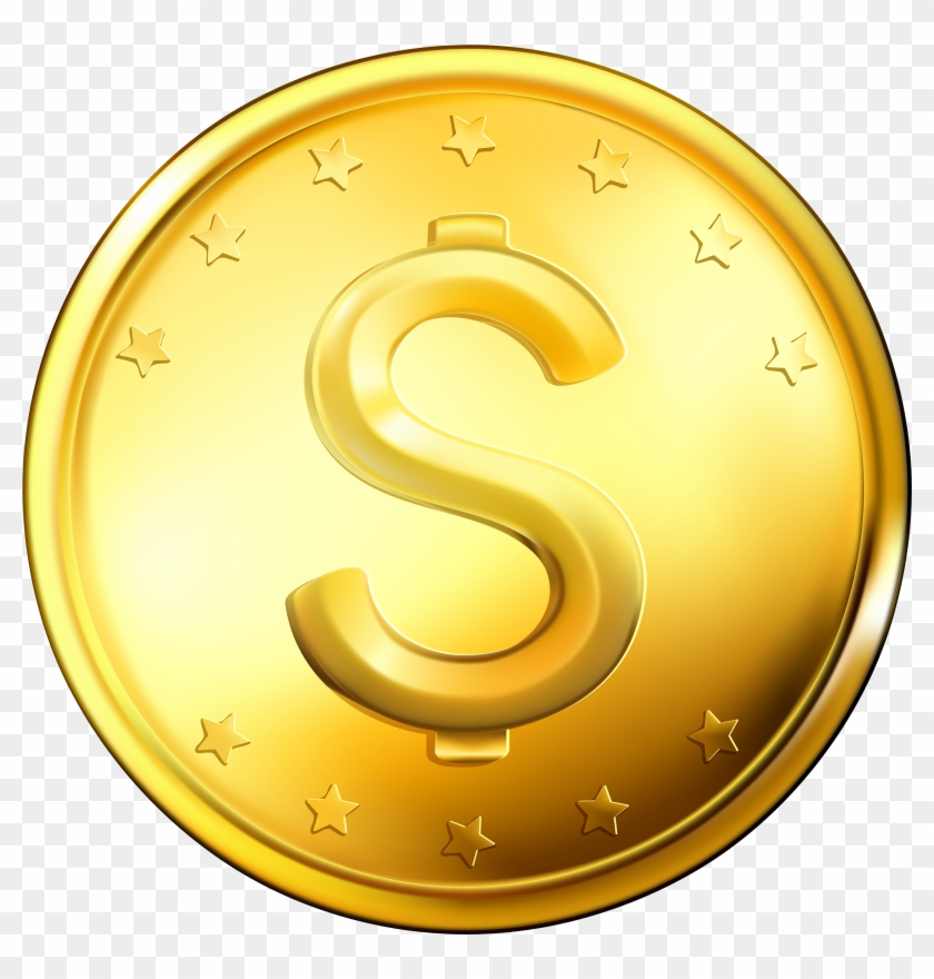 Coin Showing Post Clip Art - Gold Coin Png #62706