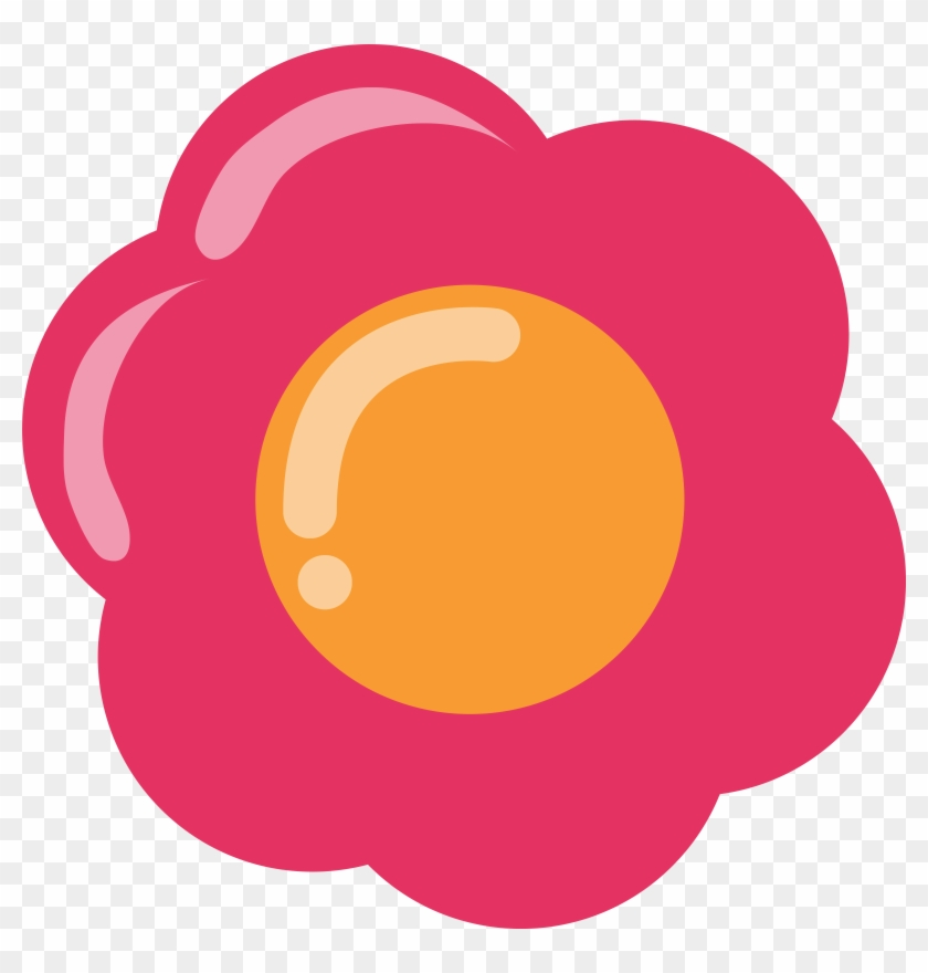 Pink Flowers Free Clip Art - Pink Flower Vector Png #62740