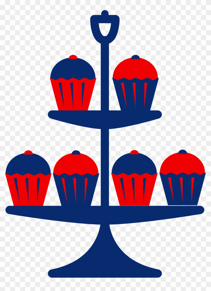 Blue Cake Stand Clipart #62753