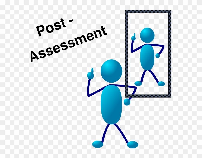 Blue Stick Man Post Assessment Clip Art - Stick People Clip Art #62769