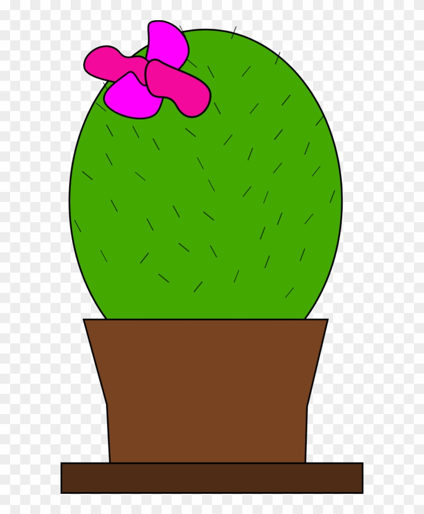 Cactus Flower Inkscape Adobe Illustrator 555px 41 - Cactus With A Bow #62782
