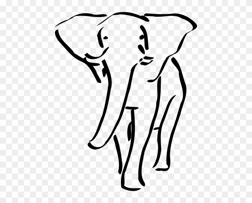 Elephant Outline Embroidery Design #62783