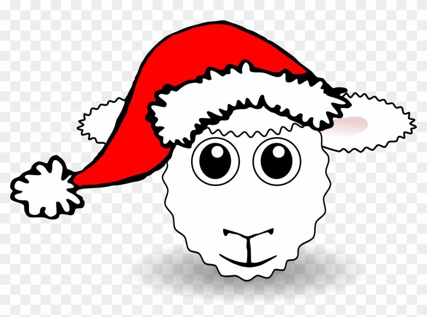 Sheep Face Cartoon With Santa Hat Scalable Vector Graphics - No Background Santa Hat #62800