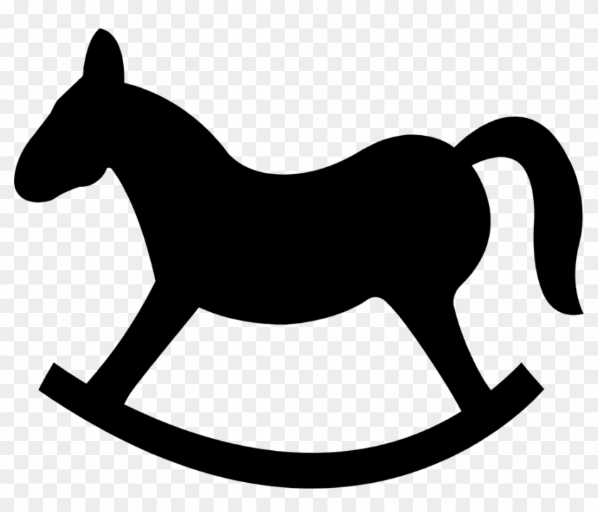 "Rocking Horse Silhouette €"" 101 Clip Art - Kentucky Derby Baby Shower #62816"