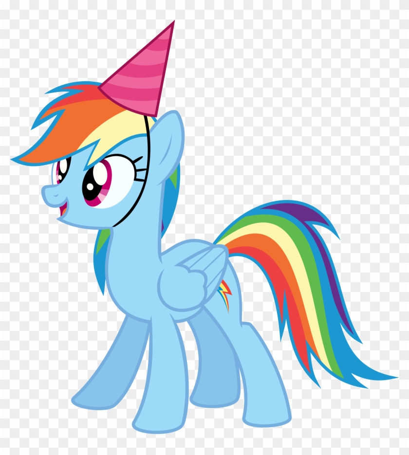 Horse Party Cliparts Free Download Clip Art - My Little Pony Rainbow Dash Birthday #62856