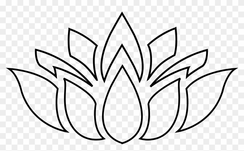 Pin Lotus Clipart Silhouette - Lotus Flower Silhouette #62871