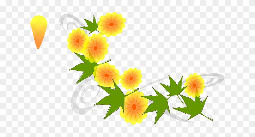 Inspired Yellow, Flower, Flowers, Japanese, Nature, - Mother's Day Clip Art #62877