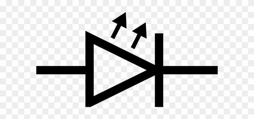 Free Vector Led Symbol Clip Art - Light Emitting Diode Symbol #62903