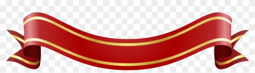 Similar Clip Art - Red Gold Banner Ribbon #62925