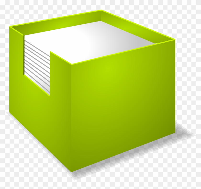 Paper Post-it Note Box Clip Art - Paper Post-it Note Box Clip Art #62978