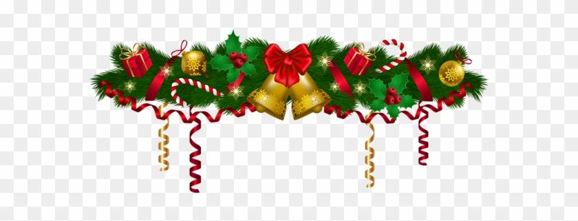 Christmas Deco Garland Png Clip Art Image - Christmas Garland Clipart #62956
