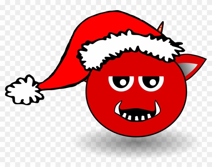 Devil Head With Santa Hat Xmas Christmas 999px 79 - Devil With Santa Hat #62974