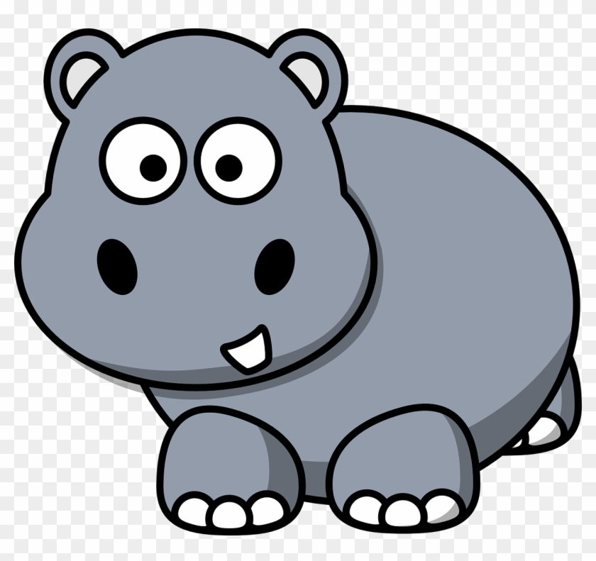 Side Hippo Clip Art - Hippo Clipart Png #62976