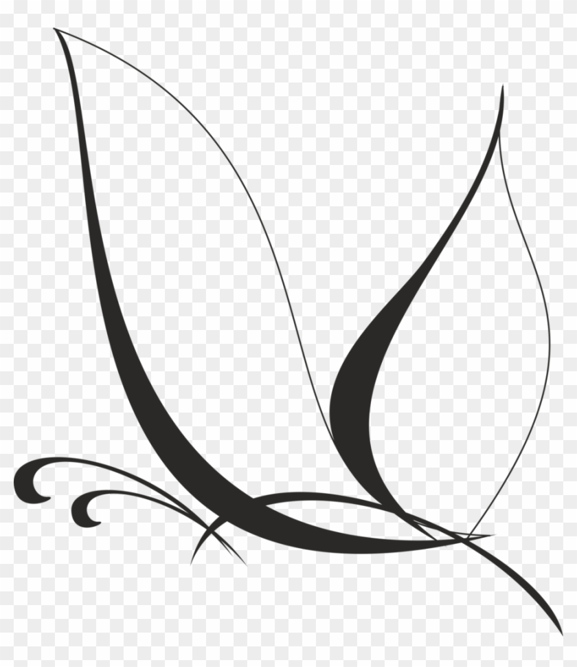Black And White Clip Art Free Butterflies - White Butterfly Vector Png #63031