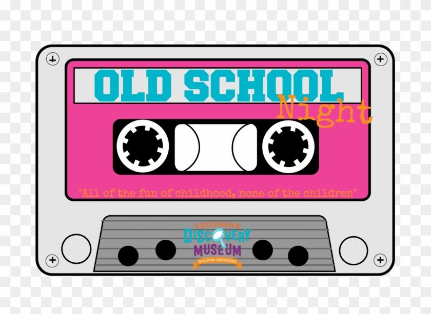 80s Cassette Tape Clipart 1 - Old School 80's Cassette Tape #63047