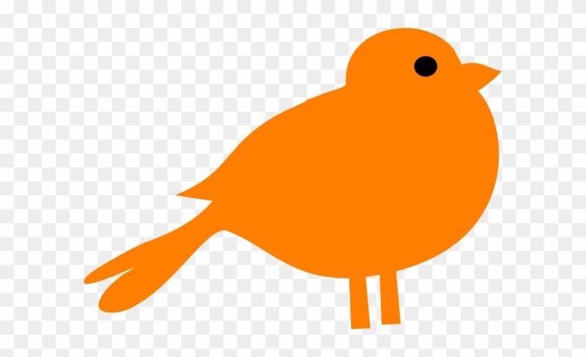 Brds Clipart Orange Pencil And In Color Brds Clipart - Orange Bird Clipart #63067