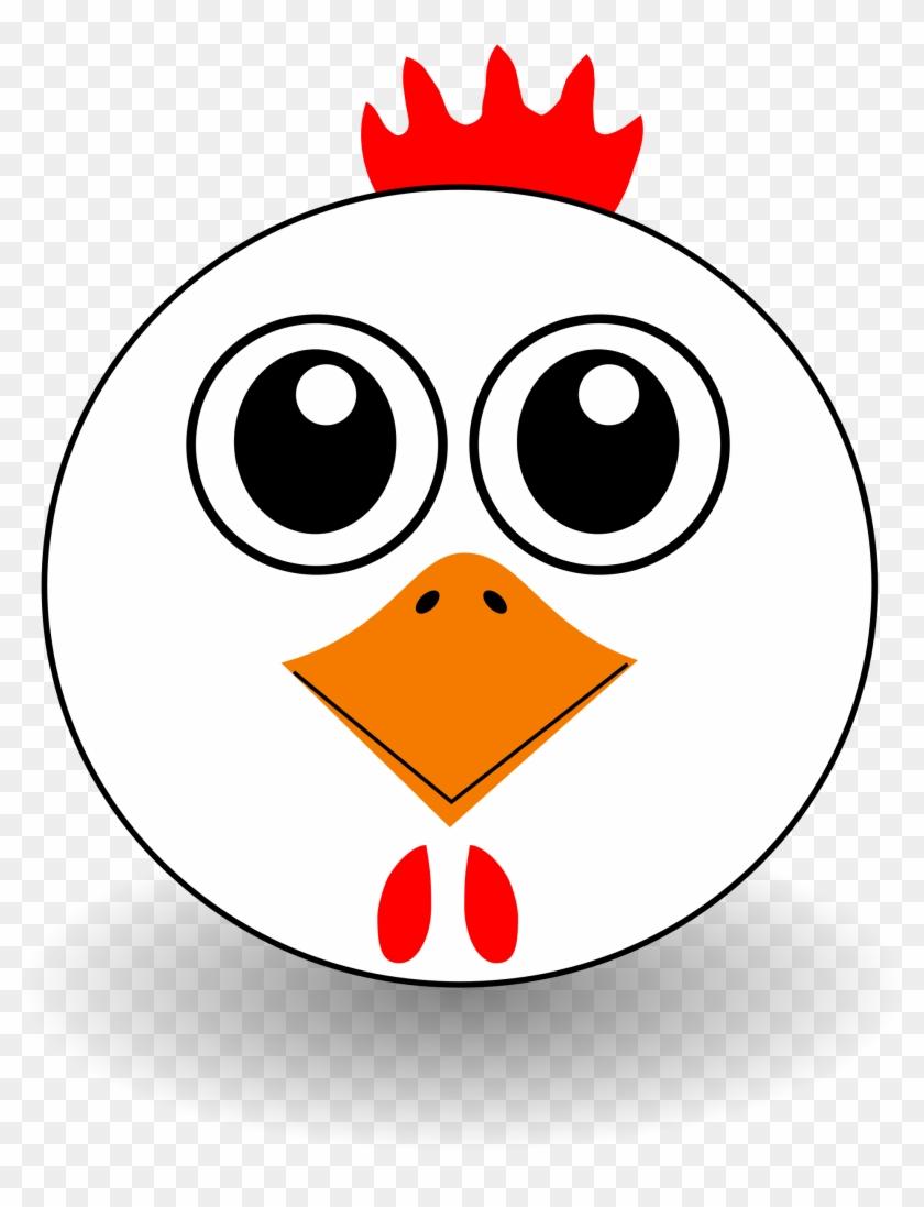 Big Image - Cute Chicken Face Cartoon #63074
