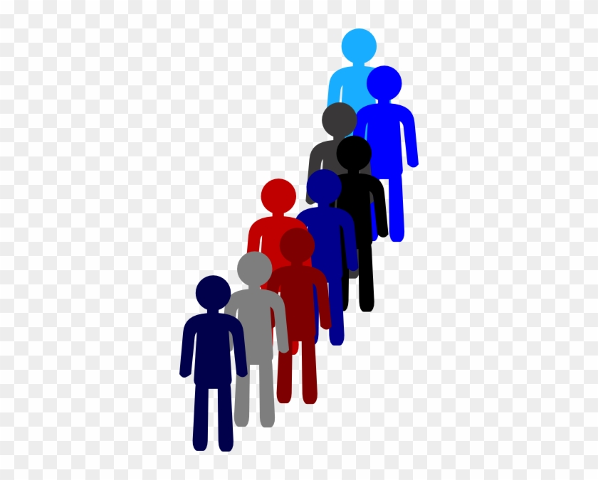 People In A Line Clip Art At Clker - People In Line Transparent #63076