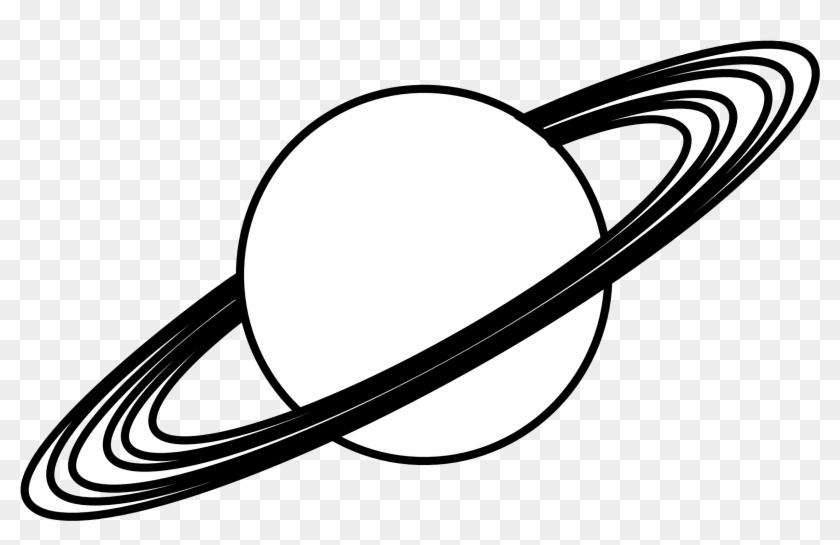 Planet Clip Art Black - Saturn Rings Clip Art #63166