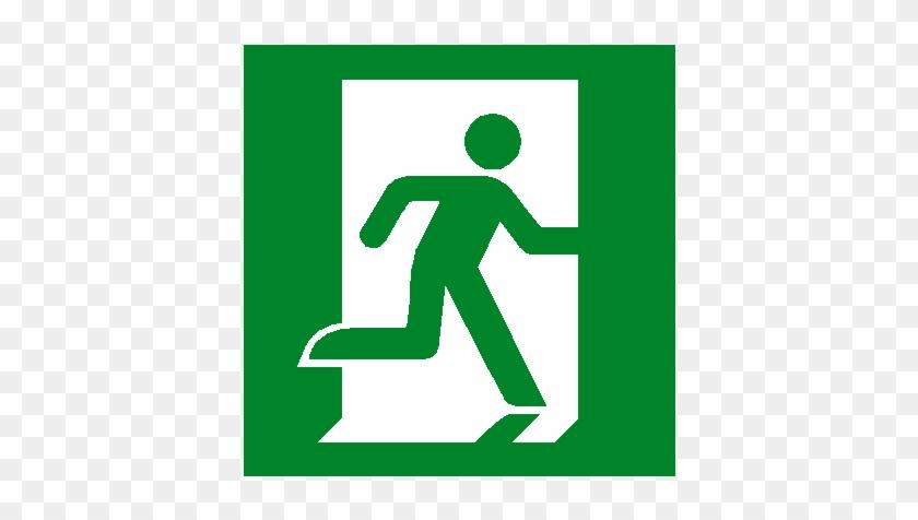 Running Man Right Sticker - Exit Sign #63185