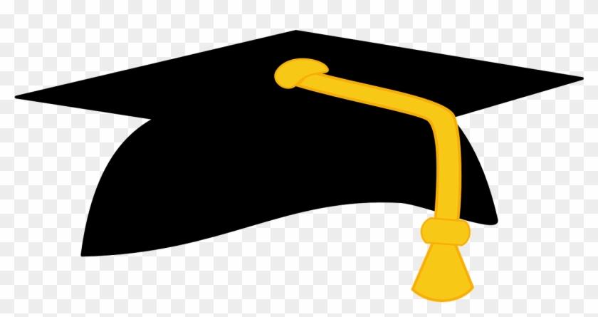 24 - Black And Gold Graduation Cap #63213