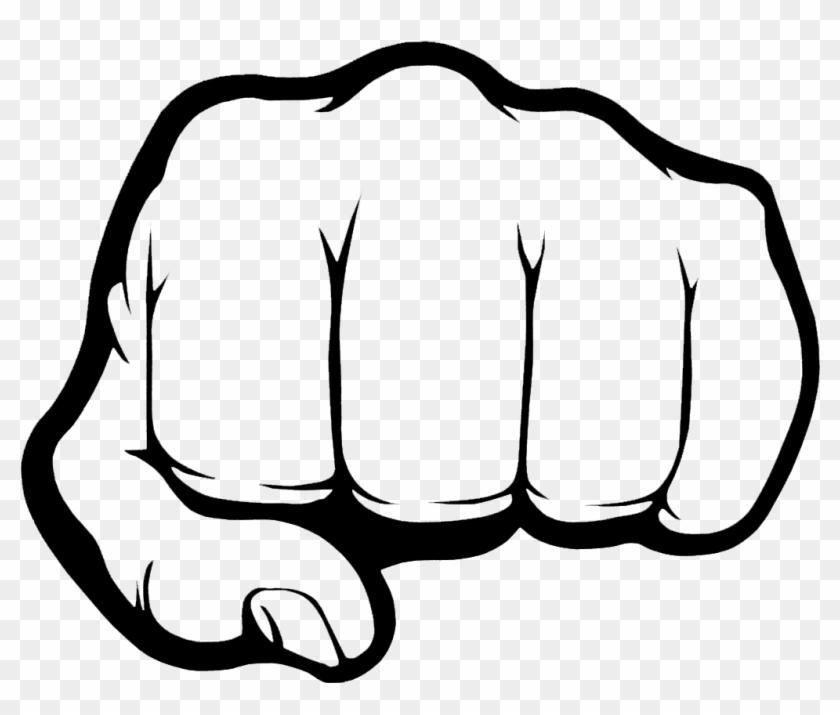 Splendid Design Fist Clipart Daily File Yumruk Make - Black And White Cartoon Fist #63231