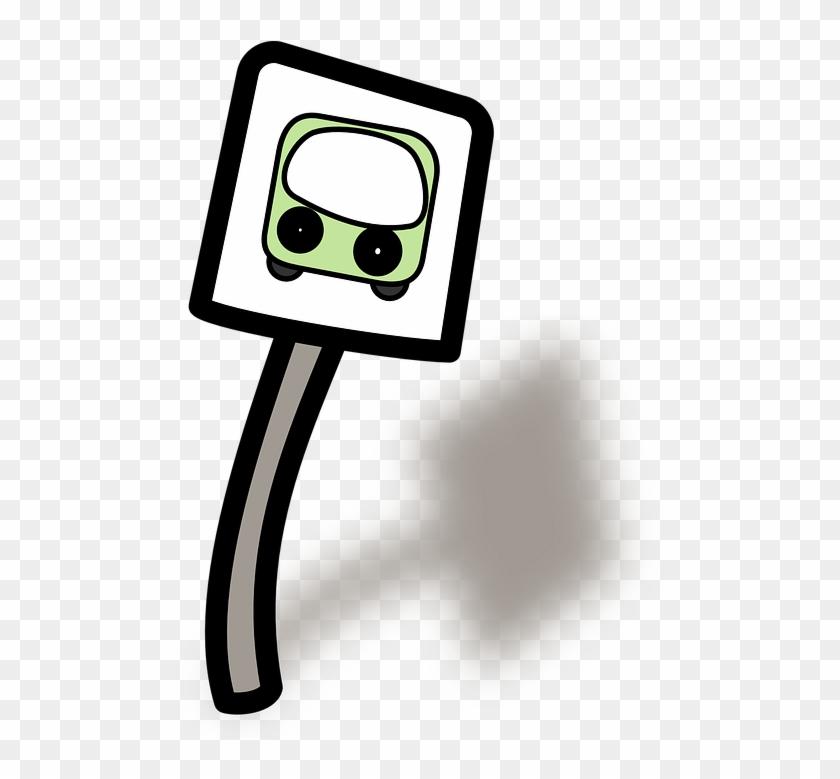 Bus Stop, Bus, Road Sign, Roadsign - Bus Stop Clip Art #63250