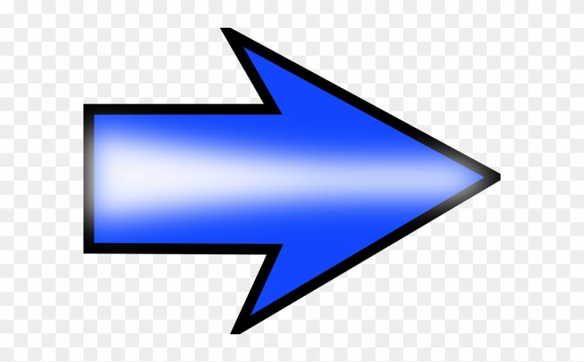 Arrow Blue Right Clip Art - Right Clipart #63343