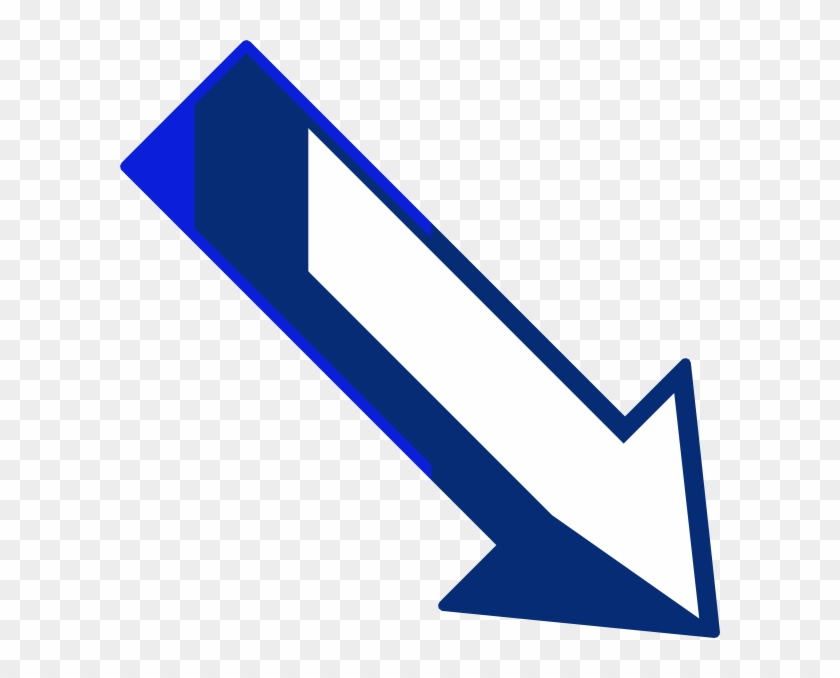 Blue Arrow Right Down Clip Art - Arrow Pointing Down Right #63388