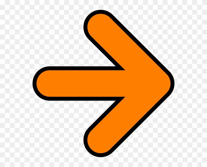 Orange Arrow Clip Art #63390