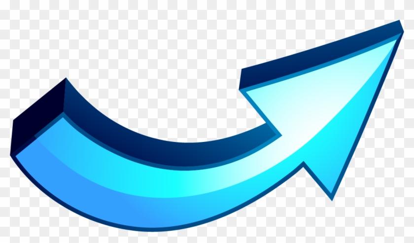 Blue Curved Arrow Clipart #63401
