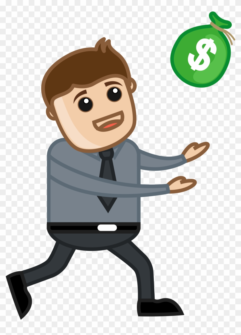 Man Running For Money Vector Illustration Fkz9acpd - Man With Money Vector #63432