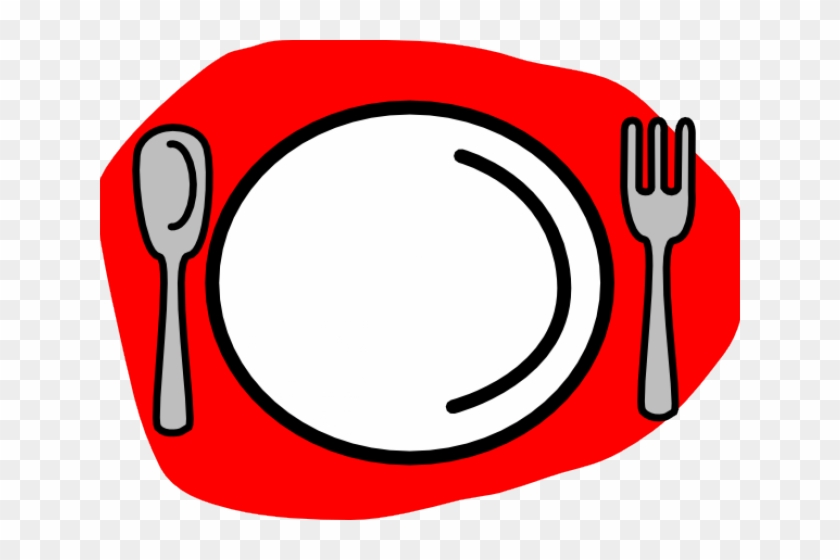 Spoon And Fork Clipart - Fork Spoon And Plate #63451