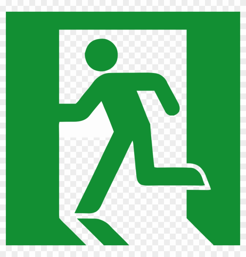 Safety Running Man Symbol - Emergency Exit Sign Vector #63468