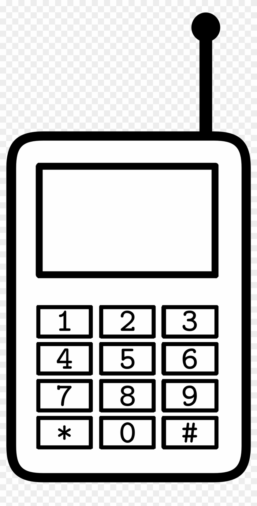 Clipart Handphone Phone Black And White Clipart Free Transparent