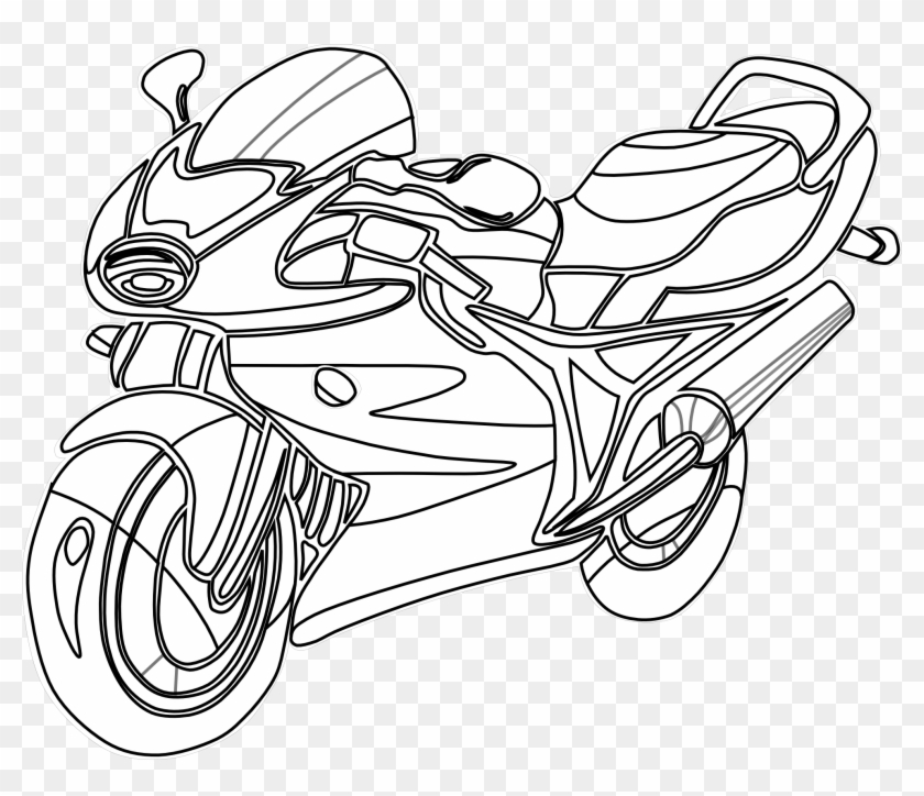 Motorcycle Clip Art - Motorcycle Coloring Page #63512