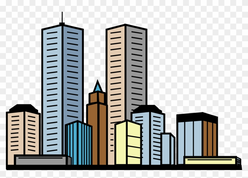 Skyscraper Clipart - Tall Buildings Clipart #63538