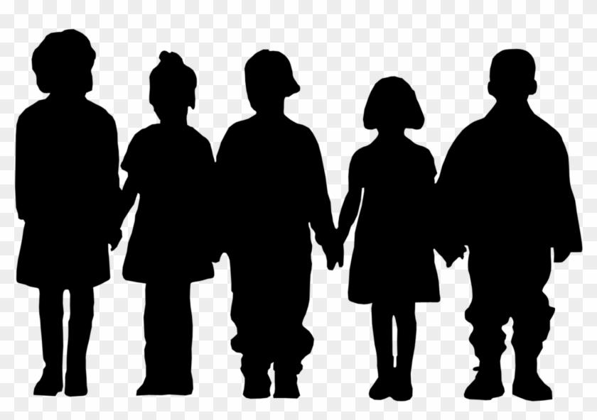 Child Silhouette Clip Art - Silhouette Children Clip Art #63548