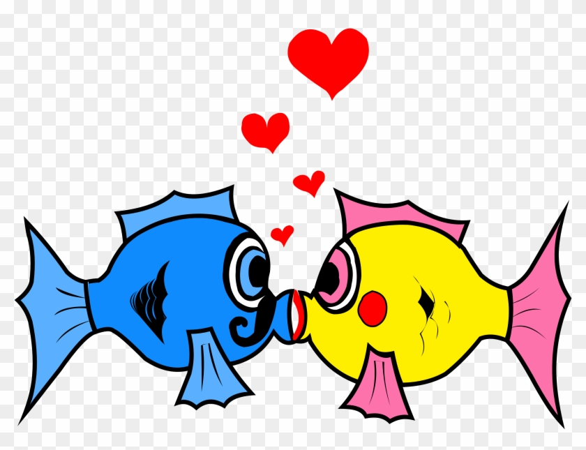 Fish Images Clip Art - Fish In Love Clipart #63580