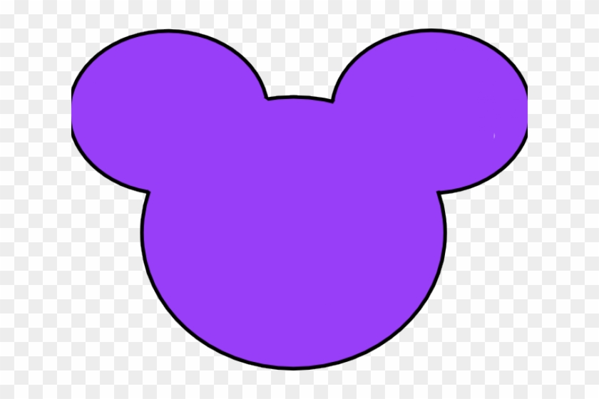 Mickey Mouse Head Silhouette Vector - Purple Mickey Mouse Ears #63610