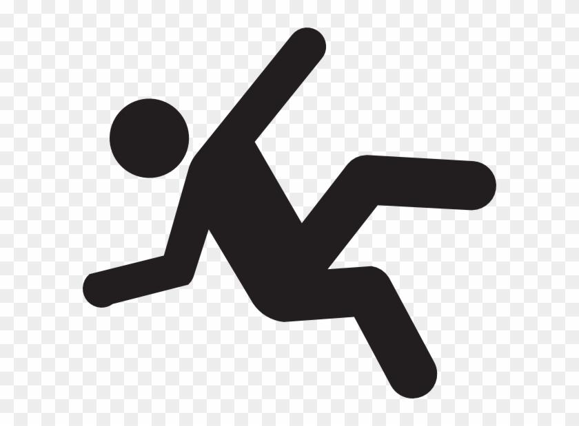 Slip Man Clip Art - Stick Figure Falling Down #63623