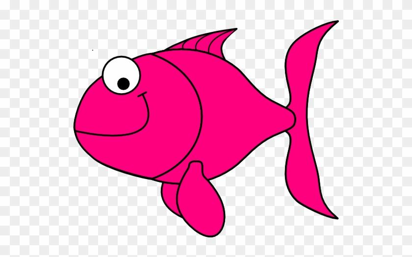 Pink Fish Clip Art At Clker - Clip Art Fish Transparent #63631