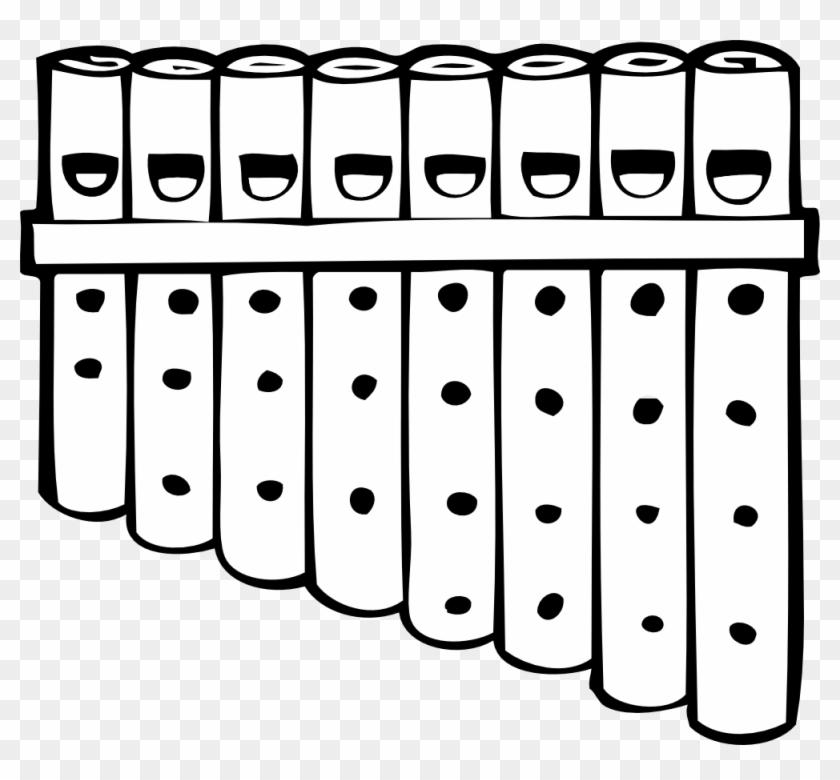 Free Vector Pan Pipes Clip Art - Pan Pipes Clipart #63693