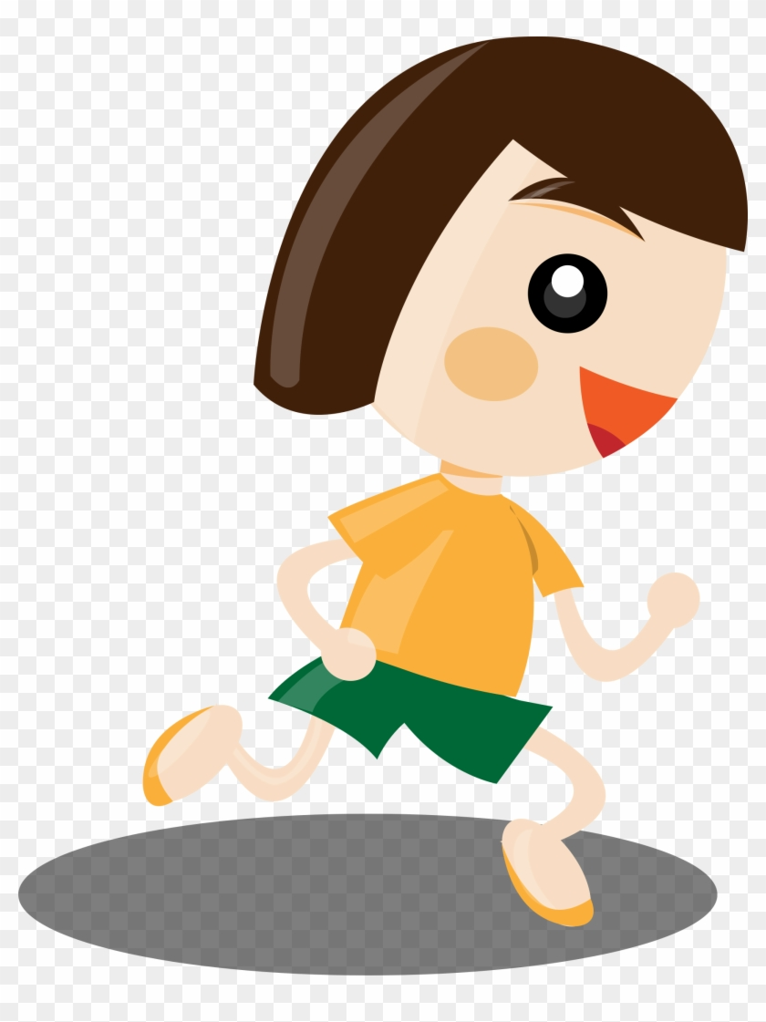 Person Running Clipart Image - Cartoon Girl Running Png #63713