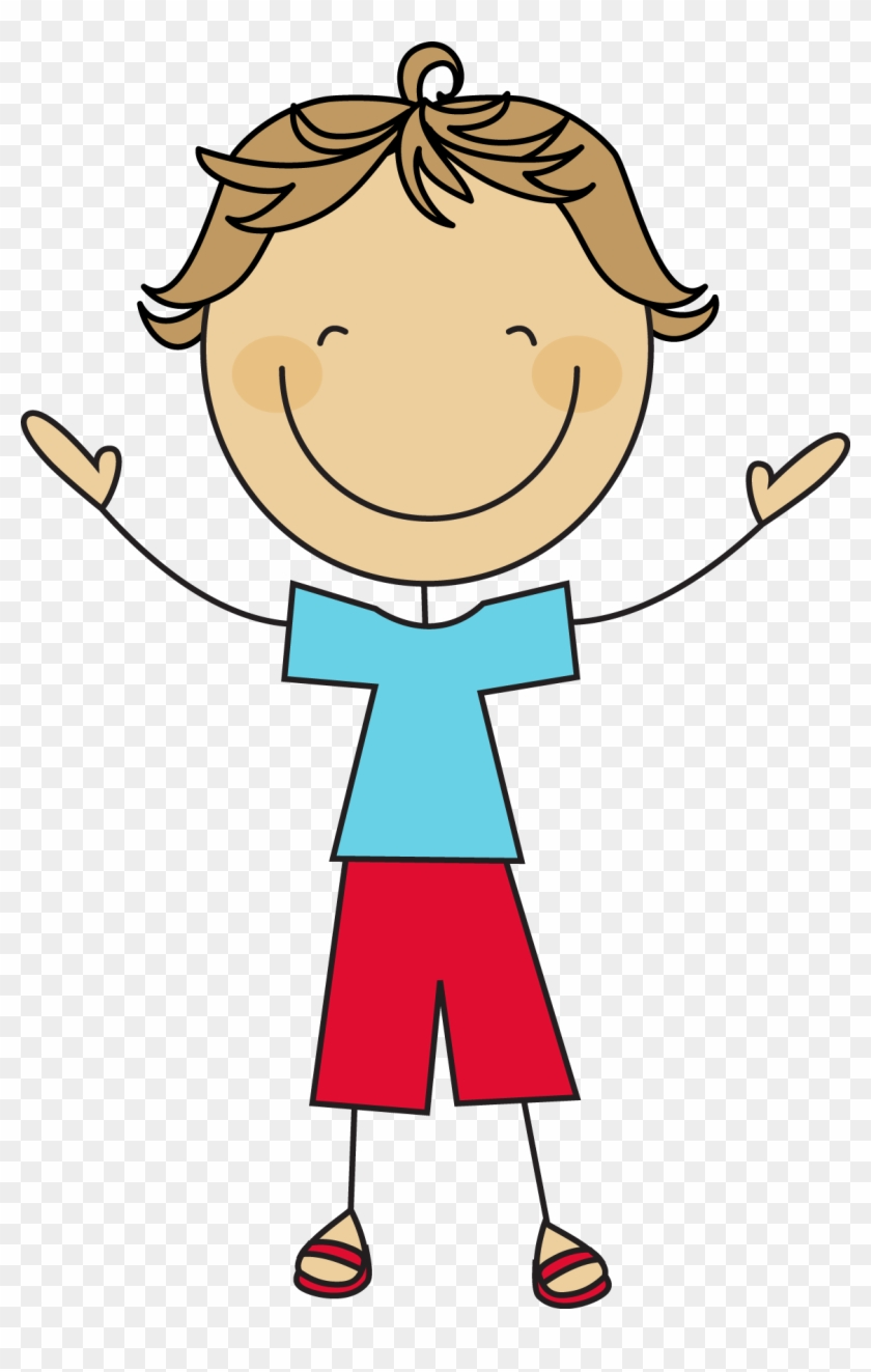 Boy Stick Figure Clipart - Cartoon Stick Figure Boy #63815