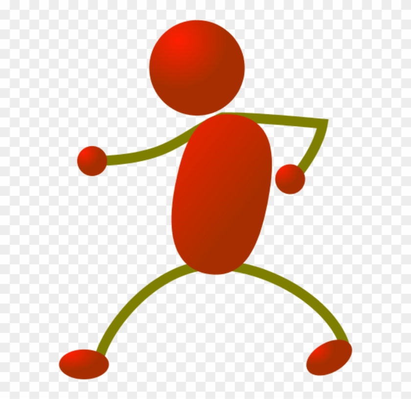 Stick People Dancing Clipart - Red Stick Man Clipart #63817