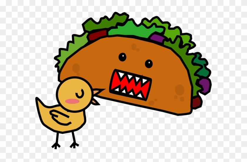 Taco Black And White Clipart - Cartoon Taco #63819