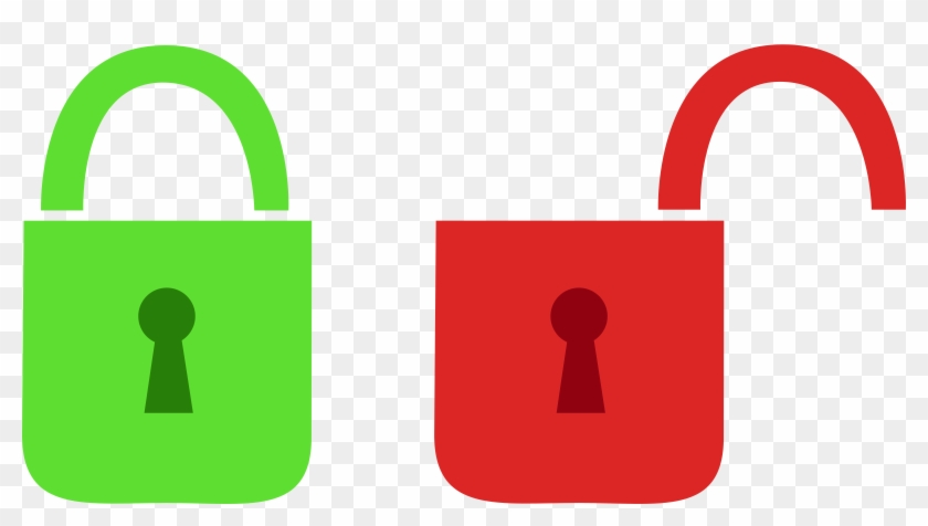 Clipart Open And Closed Lock - Open And Closed Lock #63858