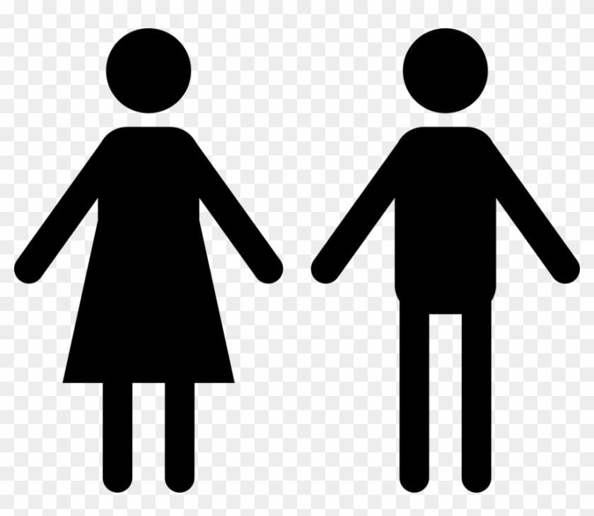 Mensch Clipart Schwarz Weiß - Man And Women Holding Hands Cartoon #63873